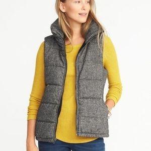 Herringbone Puffer Vest